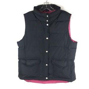 J.Crew Puffer Vest Black Pink